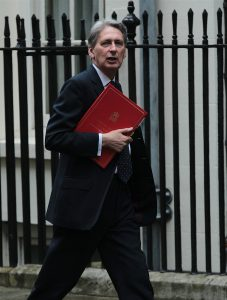 LONDON, UK, JUN 14, 2016: Foreign Secretary Philip Hammond arriving in Downing Street for the weekly cabinet meeting